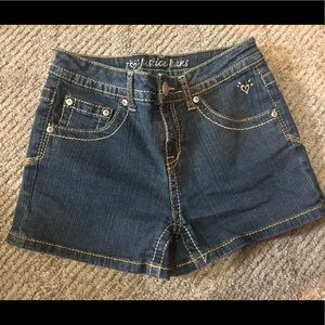 Sz 14R Justice Denim shorts.  3in inseam